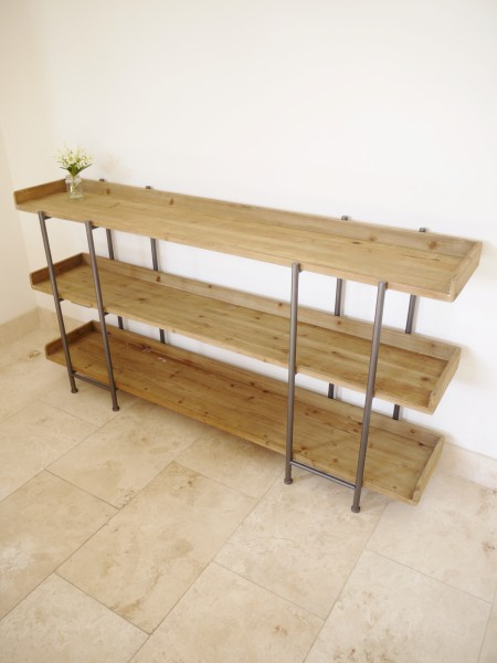 Large Wooden Industrial Style Freestanding Shelving Unit
