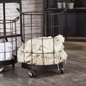 Large Industrial Storage Basket on Wheels