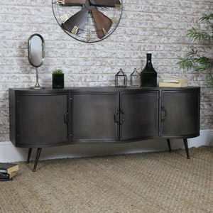 Large Metal Industrial TV/Media Cabinet