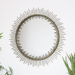 Antique Gold Sunburst Wall Mirror 70cm x 70cm