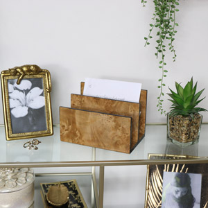 Brown Marble Effect Letter Holder