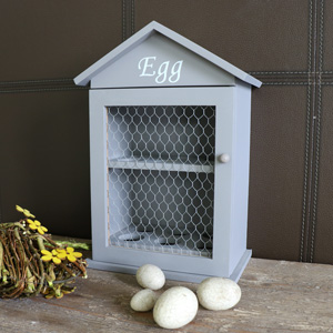 Grey Wooden Egg House Storage Cabinet