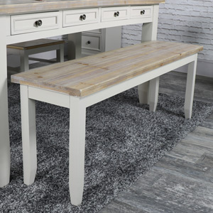 Large Taupe Dining Table Bench - Cotswold Range
