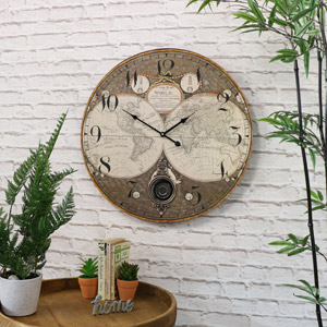 Large Atlas Pendulum Wall Clock