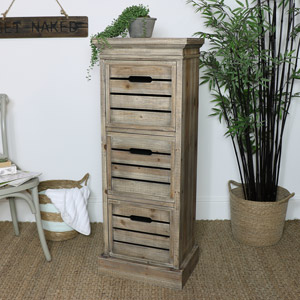 Rustic Tallboy Chest of Drawers - Somerset Range