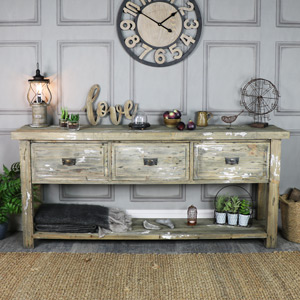 Large Weathered 3 Drawer Sideboard – Walden Range
