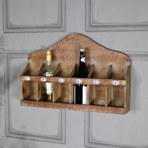 Rustic Numbered Wine Bottle Holder