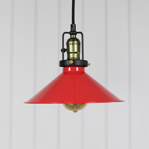 Vintage Red Loft Style Ceiling Light