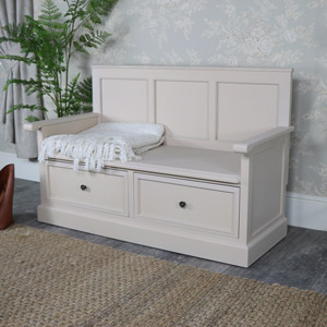 Large Wooden Storage Bench - Cotswold Range