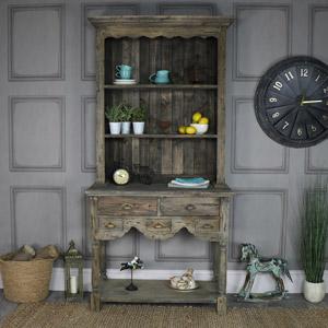 Tall Weathered Country Cottage Dresser – Walden Range