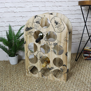 Wooden Printed Wine Rack