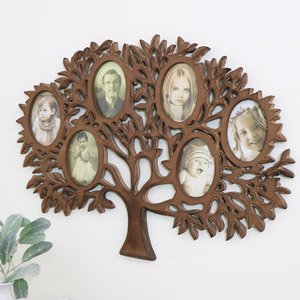 Rustic Wooden Tree of Life Multi Photo Frame