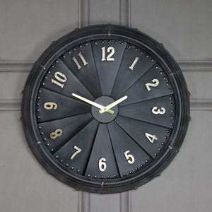 Large Retro Propellor Wall Clock