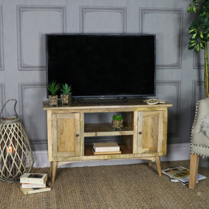 Rustic Natural Wood TV Cabinet - Oslo Range