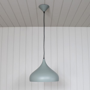 Grey Metal Dome Pendant Ceiling Light Fitting