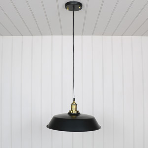 Industrial Style Black Metal Pendant Ceiling Light