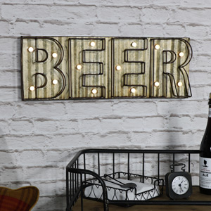 Industrial Retro Style 'Beer' Wall Light