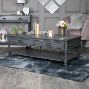Large Dark Grey Coffee Table - Lancaster Range