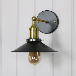 Vintage Industrial Style 1 Arm Adjustable Wall Light
