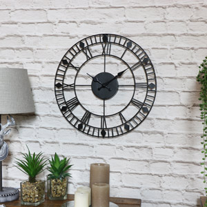 Black Skeleton Wall Clock