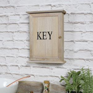 Rustic Wall Mounted Wooden Key Cabinet
