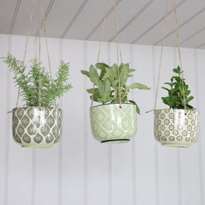 Set of 3 Decorative Hanging Planters