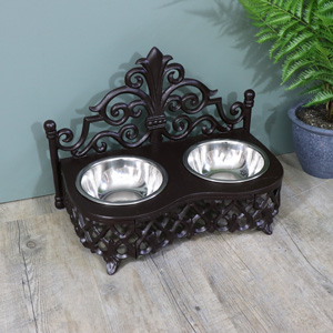 Cat or Small Dog Bowls with Stand