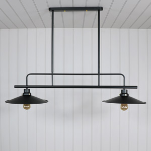 Black Metal Double Ceiling Light