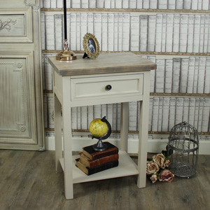 Cotswold Range - 1 Drawer Bedside/Lamp Table