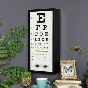 Retro Wall Mounted Eye Test Wall Mounted Light Box Sign