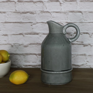 Vintage Grey Ceramic Glazed Jug
