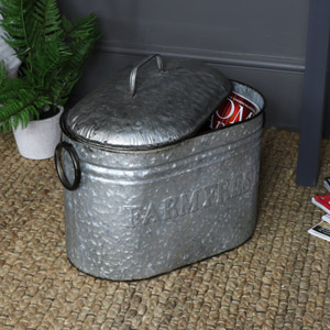 Rustic Metal Storage Container