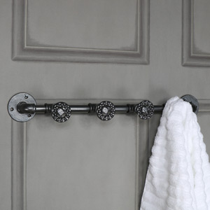 Grey Industrial Tap Coat Hooks
