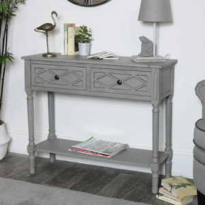 Grey Console Table – Venice Range