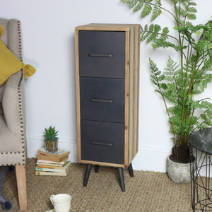 Tall Industrial 3 Drawer Cabinet