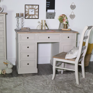 Large Twin Pedestal Dressing Table/Desk - Cotwold Range