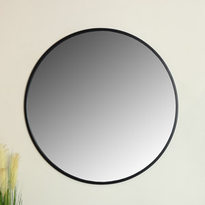 Extra Large Round Black Wall Mirror