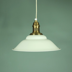 Cream and Gold Hanging Pendant Light