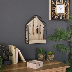 Rustic House Shaped Key Holder