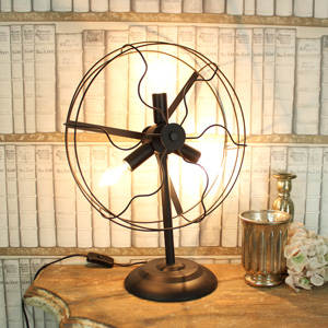 Black Three Bulb Fan Lamp