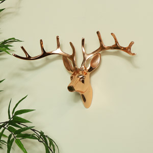 Wall Mounted Copper Stag Head