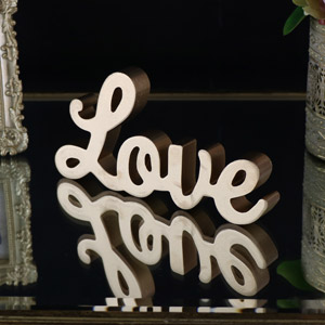 Freestanding Gold Cutout 'Love' Standing Letters