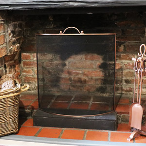 Black & Copper Fire Screen