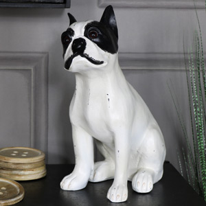 Vintage French Bulldog Sitting Statue