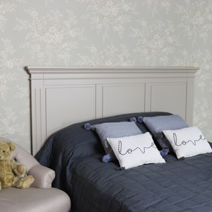 Large Kingsize Panelled Headboard - Daventry Taupe-Grey Range