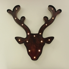 Large Reindeer Head with Lights