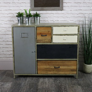 Industrial Range - Metal & Wood Storage Unit