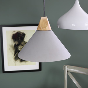 Vintage Grey Cement Pendant Light