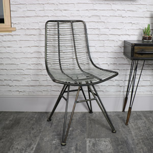 Steel Grey Wire Midas Chair