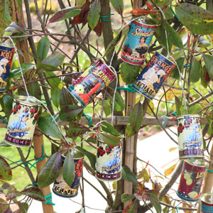 Retro Summer Fruit Tin Can String Fairy Lights